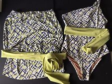 CIA MARITIMA BEACHWEAR 1 shoulder swimsuit and strapless cover up set, size 42/L