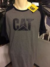 Cat Machines T Shirt Gray & Blue NWT Size XL X Large