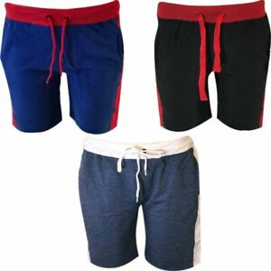 Mens Fleece Shorts Swim Beach Jogger Running Gym Fit Jogging Zip Pockets Shorts