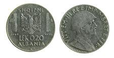 s289_58) ALBANIA Vittorio Emanuele III  (1939-1943) 0,2 LEK 1939
