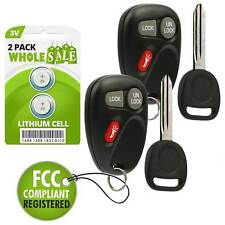 2 Replacement For 2002 Chevrolet Avalanche 1500 2500 Key + Fob Remote