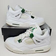 2004 Nike Air Jordan 4 Classic Green Sz 12 308497 101 Vintage Bred White Cement