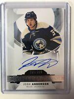 2015-16 Upper Deck Premier Rookie Josh Anderson RC Auto /399
