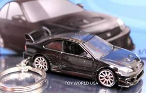 Custom Key Chain Honda Civic Si black