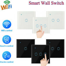1/2/3 Gang Smart WiFi Touch Wall Light Switch UK/EU Panel for Alexa Google