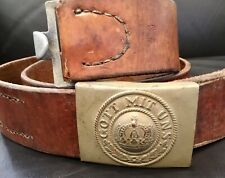 Imperial German,1915 Date Prussian Enlisted Mans Buckle & Maker/Unit Marked Belt