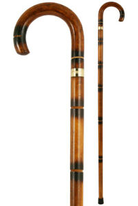 Imitation Bamboo Crook Handled Walking Stick
