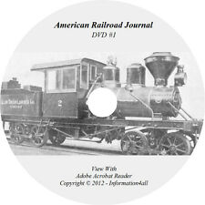 93 Volumes/Books on DVD, American Railroad Journal