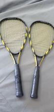 Speedminton Rackets (2) S70 Badminton Yellow Black Lite Aluminum-FREE SHIPPING !