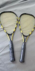 Speedminton Rackets (2) S70 Badminton Yellow Black Lite Aluminum-FREE SHIPPING !
