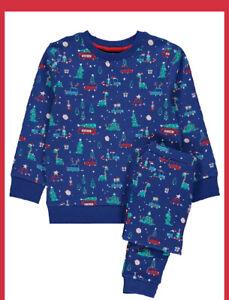 Kids Christmas Festive Dinosaur Print Outfit 12/18 Months