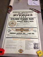 Vintage Harley Davidson Sturgis 1989 $15,000 Poker Run 36x24 Poster