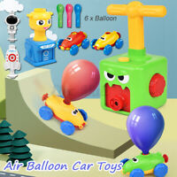 Inertia Balloon Launcher Powered Car Toy Set Toys Gift For Kids Child Experiment