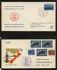 Netherlands   2  nice cachet  airmail  covers           KL0831