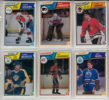 Five Top Rookies from 1983-1984 O-Pee-Chee - Scott Stevens, Pelle Lindbergh, --