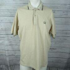 Paul & Shark Xl Polo Shirt Mens Beige Golf Tennis Yatching