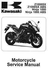 2011 2012 2013 Kawasaki Ninja 1000 motorcycle service manual in 3-ring binder
