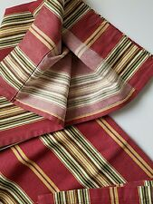Pottery Barn Hudson French Country Cafe Curtain Striped Red Cotton
