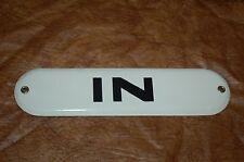 "Oval ""IN"" Porcelain Metal Sign"