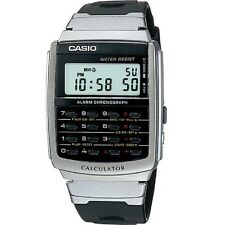 Casio CA-56-1 Black Silver Tone Retro Digital Calculator Watch with Casio Box