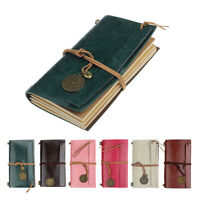 Retro Classic Journal Vintage Leather Bound Blank Pages Diary Notebook Copybook