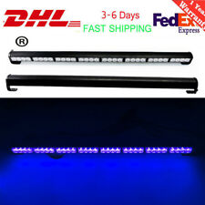 "32 LED 35.5""Emergency Traffic Advisor Flash Strobe Light Bar Warning  blue"
