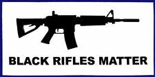 Black Rifles Matter White Black Vinyl Decal Bumper Sticker