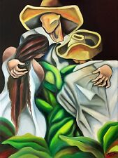 "MIGUEZ CUBAN ART 18""x24"" ORIGINAL OIL PAINTING ON STRETCHED CANVAS READY TO HANG"