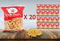 A BOX OF 20 OF LIZZO BUTTERFLY PASTA MAKARNA SPAGHETTI 450 GR (9 KG)