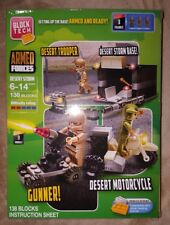 Block Tech Armed Forces Desert Storm Building / Construction Set ~138 Blocks