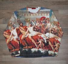 Cowboy & Angels AOP all over printed 90's Y2K Art JPG Mars Venus David Shirt M
