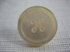 """Vintage Small 3/4"""" Mother Of Pearl MOP Shell Imitation Sew Through Button P018"""