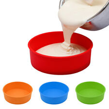New DIY Silicone Toast Bread Cake Baking Round Shape Mold Mould Bakeware Make