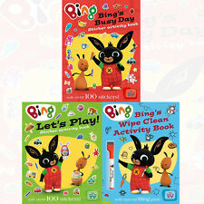 Bing's Wipe Clean Activity Book 3 Books Collection Set Let's Play sticker New