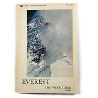 Everest West Ridge - T. Hornbein 1st Edition 1968 Sierra Mountaineering Climbing