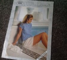 CHEVY COLLECTION VINTAGE COTTON DK KNITTING LADIES PATTERN IN VGC ( One Page)
