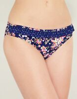 LADIES Prairie Girl FRILL BIKINI BRIEF Figleaves Swim Blue Pink Floral NEW