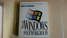 Windows pour Workgroups (3.11) Guide de l'utilsateur Français (French Manual)