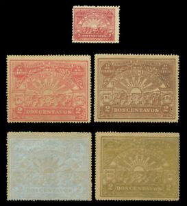 HONDURAS 1920 Down of Peace - Sunshine - Rafael Lopez set   Sc 194-198 mint MH