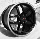 C5 Z06 Blackmachined Lip Corvette Wheels Fits 1997-2004 C5 Corvette 1718