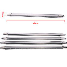 4pcs Car Bumper Door Edge Lip Guard Chrome Decor Protector Moulding Trim Strip