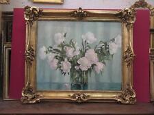 Bouquet De Fleurs, Peinture à l'Huile époque 20ème.