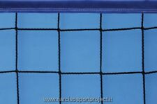 Rete da beach volley con nastro colorato, cavo di trazione in acciaio, sport