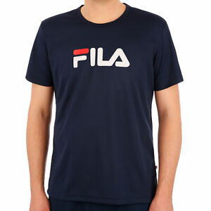 Fila Herren T-Shirt Logo T-Shirt dunkelblau NEU