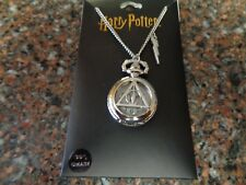 """Harry Potter Silver Watch 30"""" Chain Necklace Deathly Hallows Silver New"""