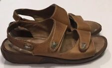SoftWalk Tan Brown Bolivia Leather Sandals Shoes Womens 8 W Wide Adjustable