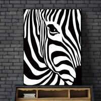 Canvas Painting Zebra Animal Posters Wall Art Picture For Living Room Home Decor