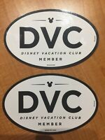 Lot Of 2 Disney Vacation Club DVC Member Oval Magnet Exclusive NEW Authentic