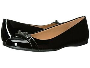 Coach Oswald patent leather Flats NIB Black
