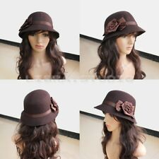 Fashion Women Retro Elegant Rose Flower Vintage Hat Cap Headwear